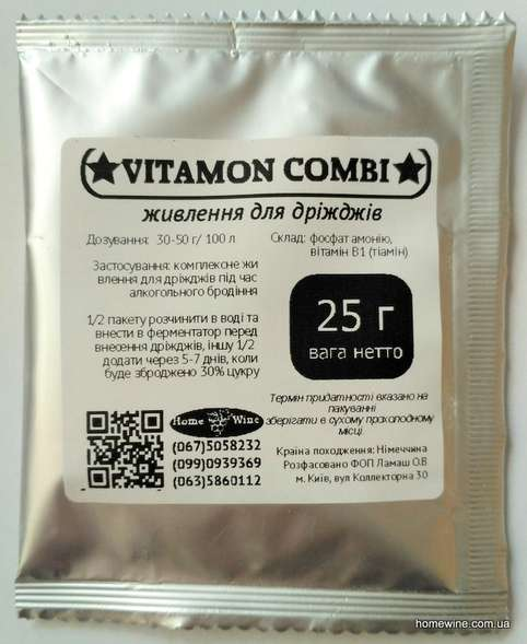 Питание для дрожжей Vitamон Combi 25 г | Homewine